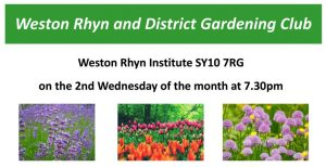 Weston Rhyn and District Gardening Club