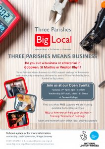 3P Means Business Open Events poster