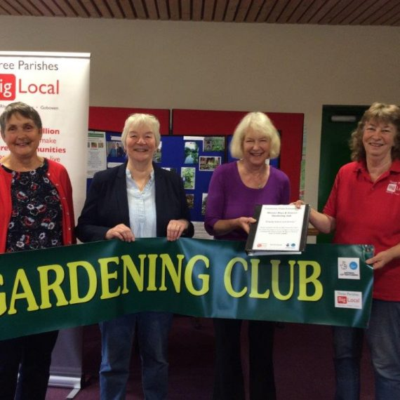 Weston Rhyn Gardening Club grant presentation