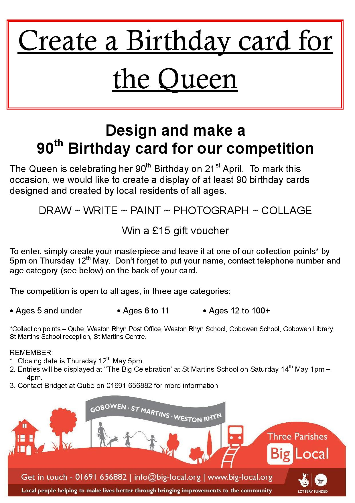 Pleasing Create A 90Th Birthday Card For The Queen Competition Three Personalised Birthday Cards Paralily Jamesorg