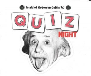 Quiz night in aid of Gobowen Celtic Football Club