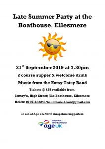 Late Summer Party at the Boathouse, Ellesmere